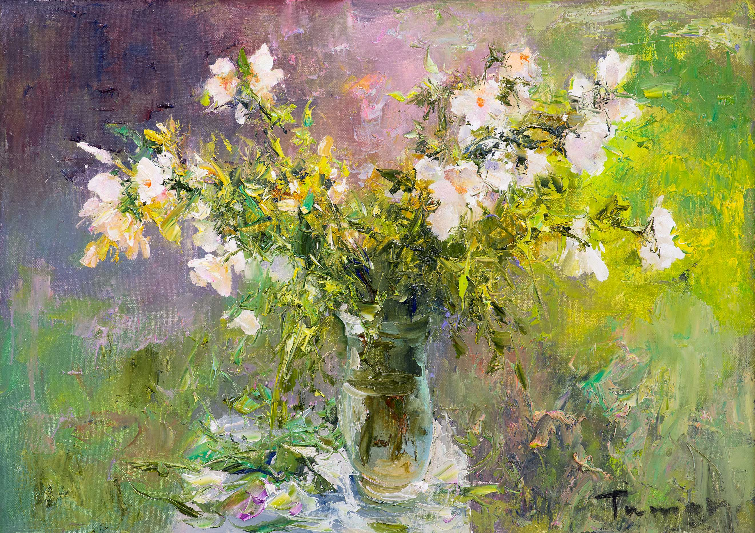 Morning dew, Tuman Zhumabaev, Buy the painting Oil