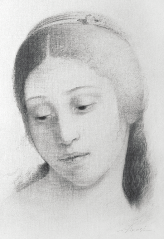 Raphael's girl, Olga Akasi, Buy the painting Pencil