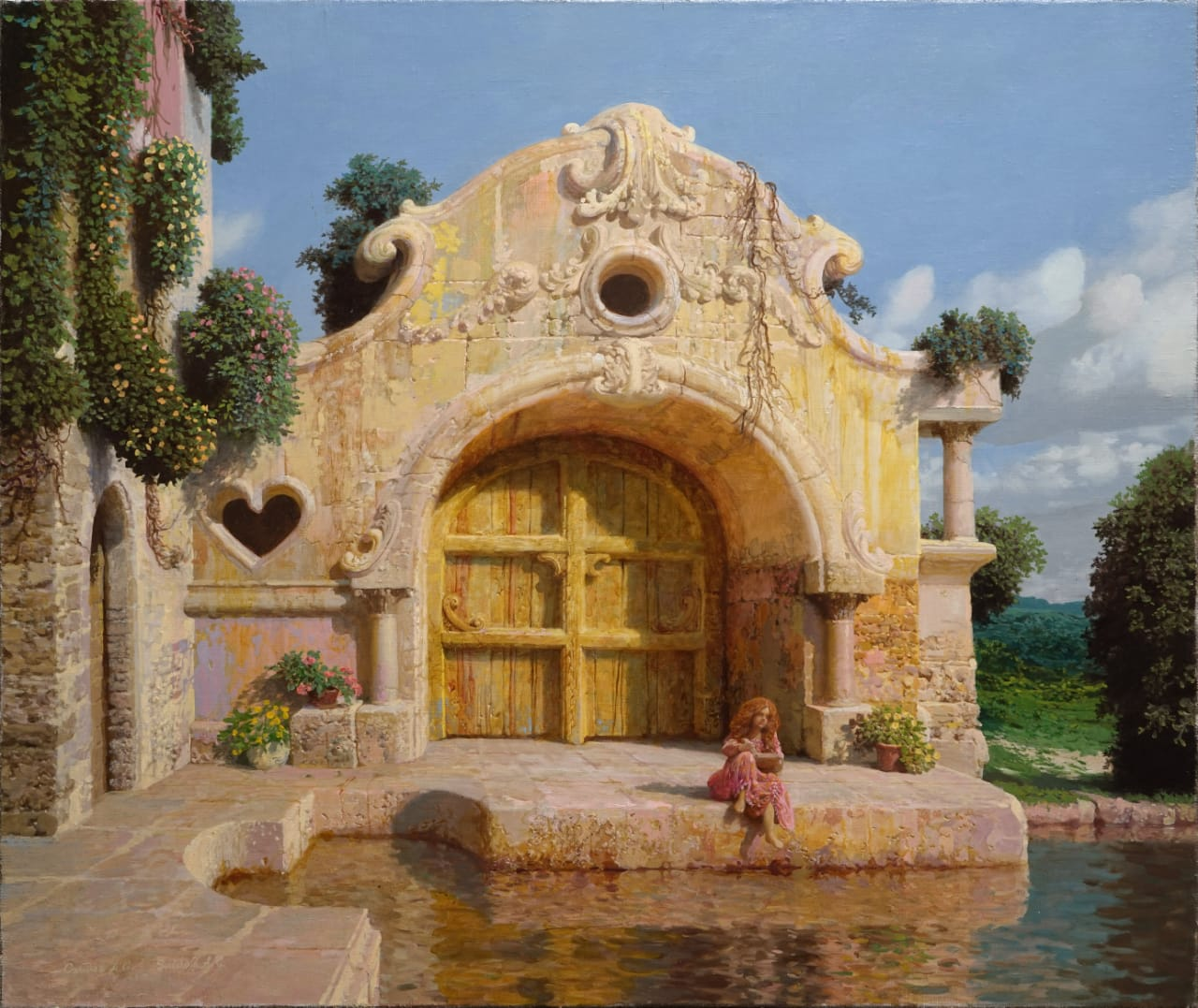 House by the Water, Alexander Saidov, Buy the painting Oil