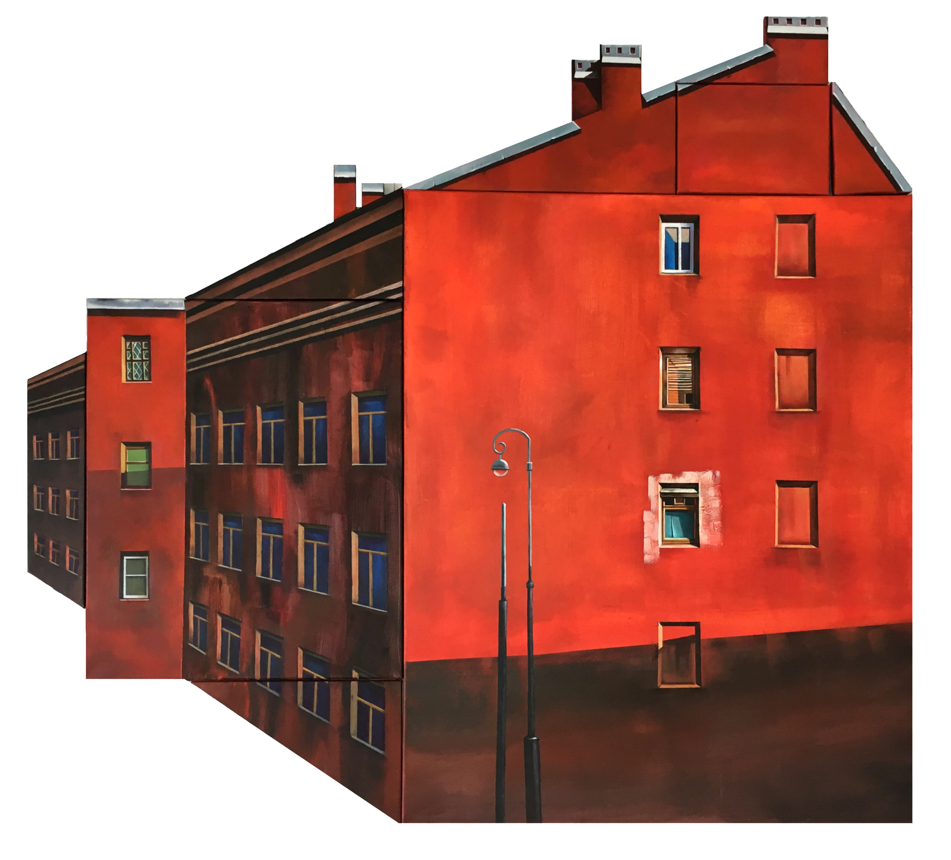 The red house from the Immersion series, Dinara Hartnagle, Buy the painting Oil