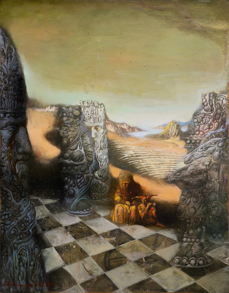 The chessboard, Armen Gasparyan, Buy the painting Oil
