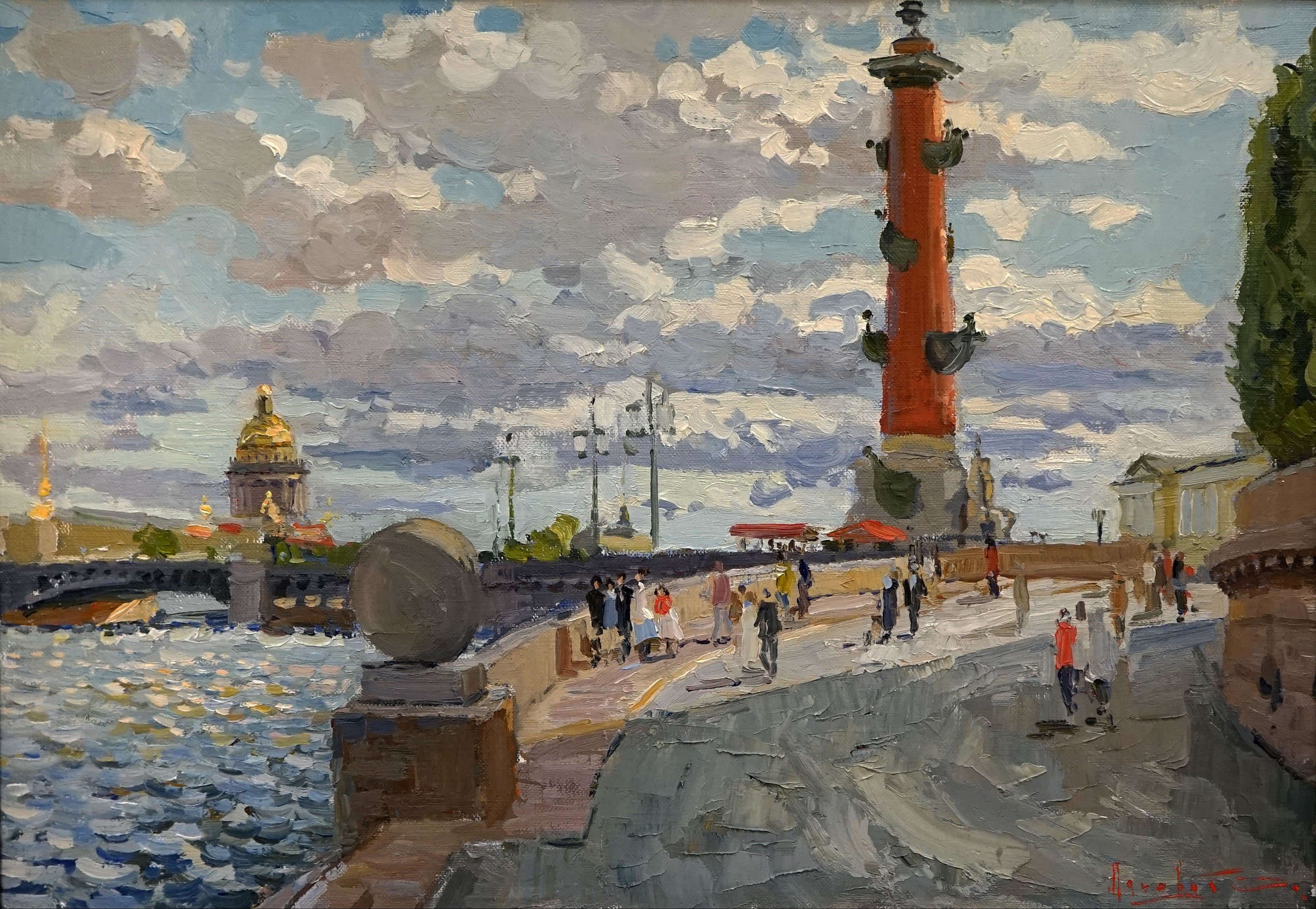 Rostral column, Sergei Lyakhovich, Buy the painting Oil