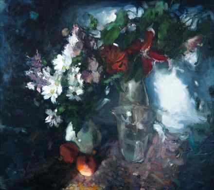 Big Still life with Two Bouquets
