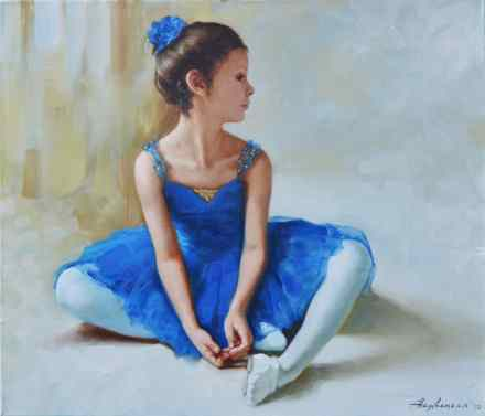 Little ballerina in blue