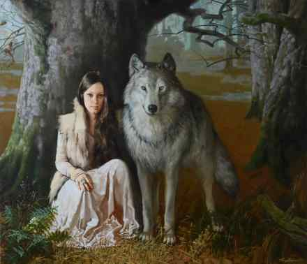 Vasilisa and the grey wolf
